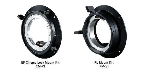 Canon EOS C500 Mark II ships with an EF Mount that can be user swapped to an optional Locking EF (EF-C) or PL mount