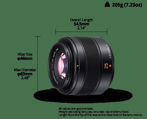 Panasonic LEICA DG SUMMILUX 25mm / F1.4 II ASPH. (H-XA025)
