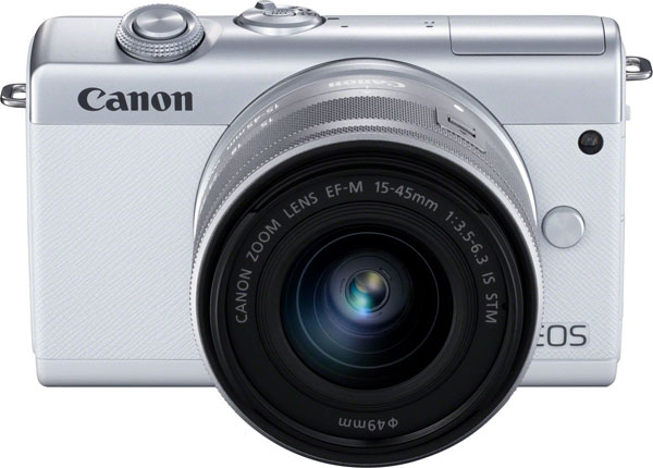 Canon EOS M200 Mirrorless Camera (White) with EF-M 15-45mm f/3.5-6.3 IS STM Lens (Silver)