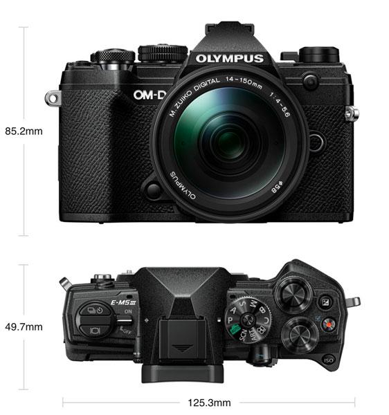 Olympus OM-D E-M5 Mark III (black) with 14-150mm f/4-5.6 lens