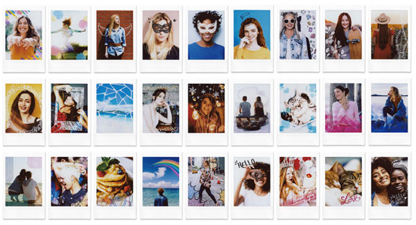 Fujifilm Instax Mini Link: Choose from 27 fun frame designs to add to your photo: Images Courtesy of Fujifilm