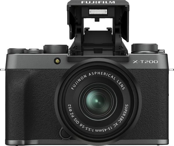 Fujifilm X-T200, Dark Silver, with XC15-45mm45mmF3.5-5.6 OIS PZ lens: Flash