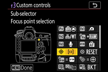 Nikon D6 has a total of 14 buttons that can be personalized with up to 46 different functions for quick, intuitive access to your favorite settings