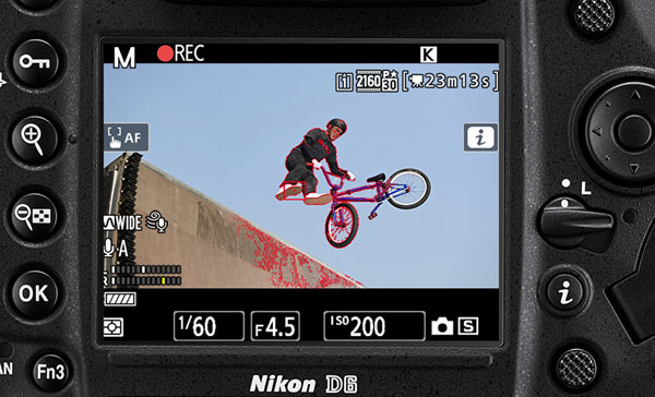 Nikon D6: Image Courtesy of Nikon: Video capability