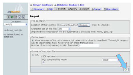 Importing Your Database Tables PHP and ASP