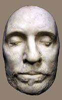 Oliver Cromwell - death mask - warts and all
