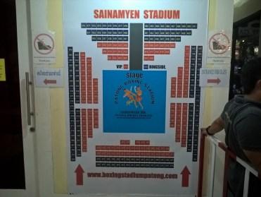 座席の説明 / ムエタイ ( Patong Boxing Stadium Sainamyen Rd. )