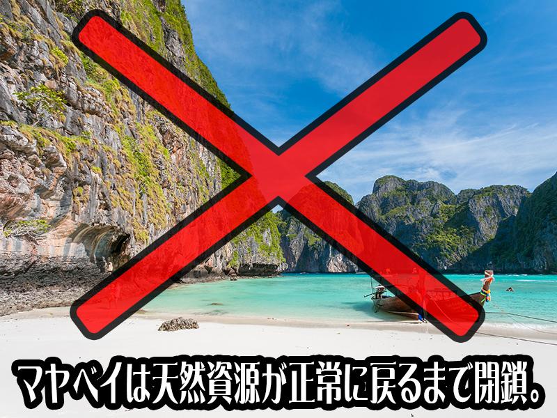 ピピレ島・マヤベイは天然資源が正常に戻るまで閉鎖となりました。