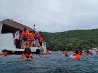 5.ピピ島の観光(シュノーケリング) / カタマランで行く ピピ島+ココビーチ+マイトン島ツアーの紹介(その2)