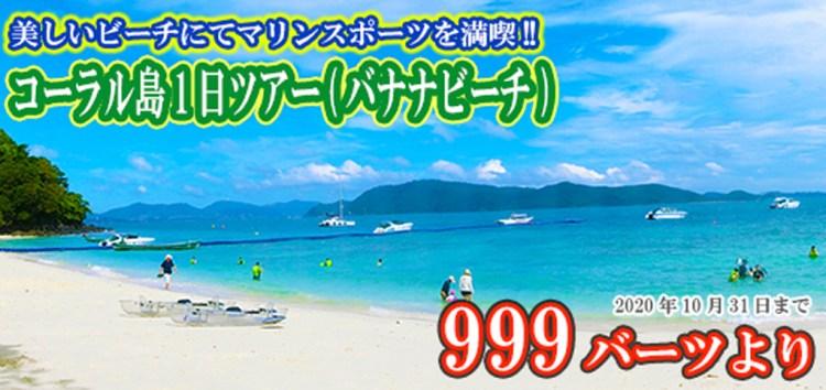 コーラル島1日ツアー (バナナビーチ)