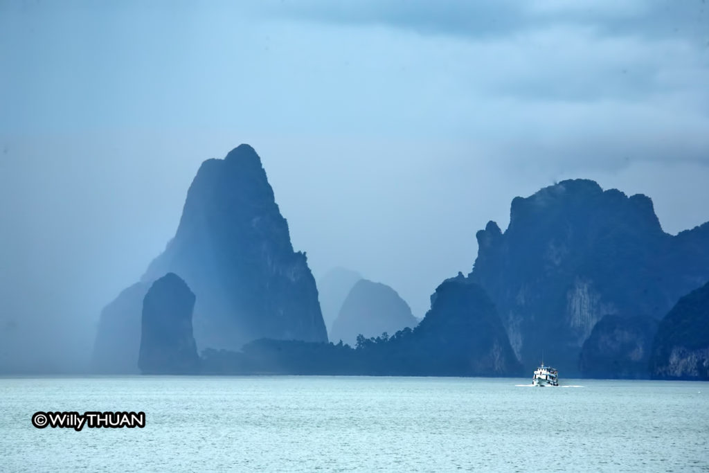 The Bay of Phang Nga early morning
