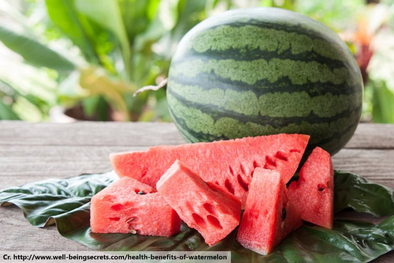 Watermelon, fruit desserts menu