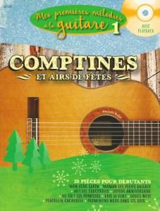 comptines et fêtes, des morceaux pour les petits débutants à la guitare