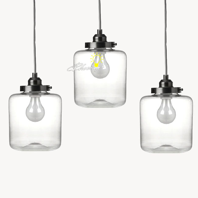 Nordic Clear Glass Jar Pendant Lighting 8861