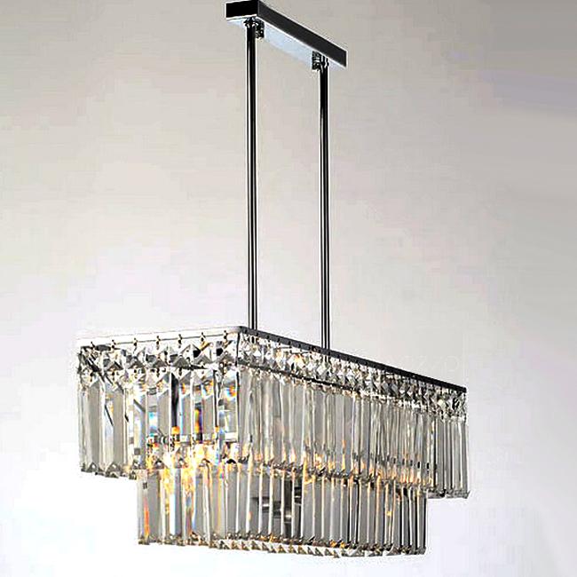 Modern Oblong K9 Crystal Chandelier 10170