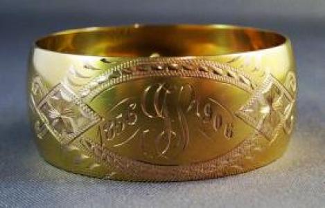 14k Gold Napkin Ring 01
