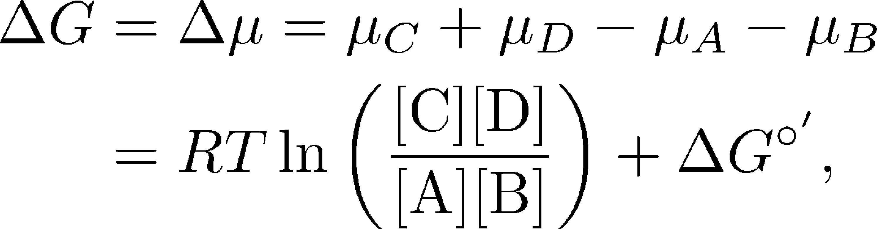 What Is The Equation For Chemical Potential Energy