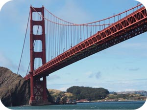under golden gate bridge