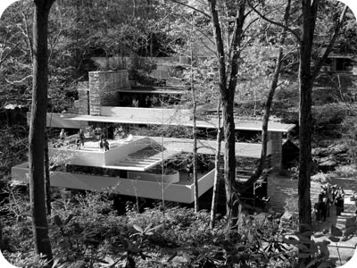 Fallingwater black and white