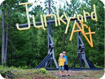 lakenland junkyard art