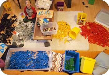 sorted legos