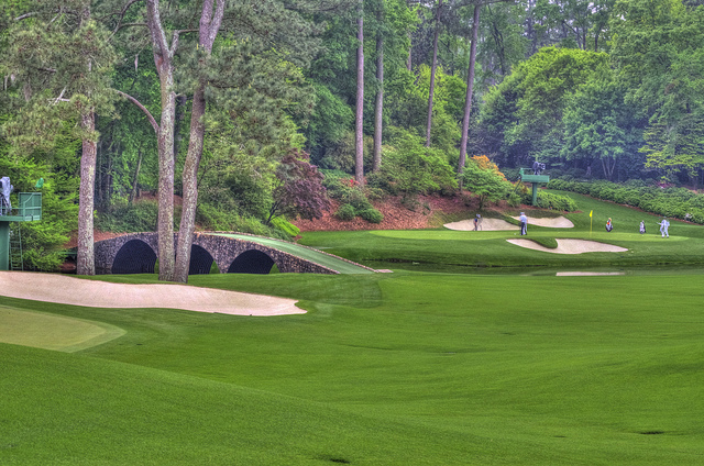 The infamous Amen Corner at Augusta has seen titles won and lost - Picture credit - Brett Chisun