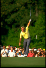 Jack Nicklaus becomes the oldest ever Masters champion in 1986 - Picture credit - flowtv.org