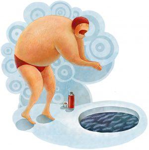 winter swimmer