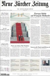 NZZ Titelblatt