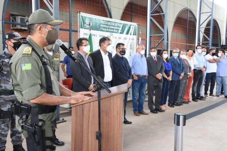 Entrega de viaturas PM Wellington Dias 13 Polícia Militar recebe 24 novas viaturas do governador
