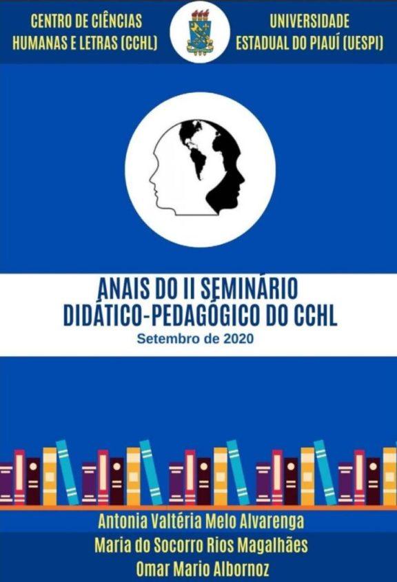 1 6 Editora da Uespi lança resumos do II Seminário Didático-Pedagógico do CCHL