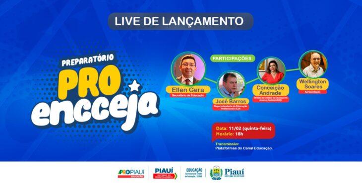 pro destaque Seduc lança PRO Encceja Live nesta quinta (11) às 18h