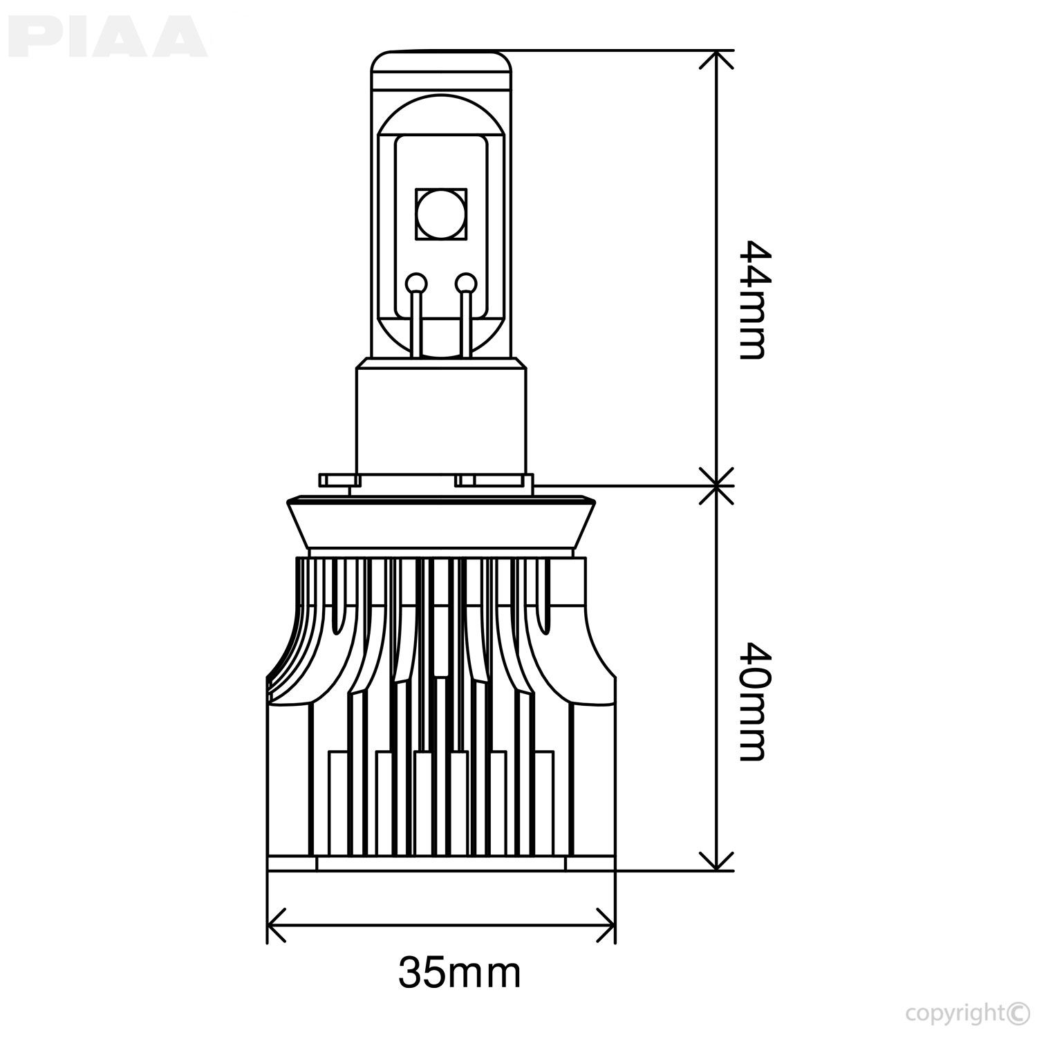 Piaa Ram High Output White Led Low Beam Light Bulb