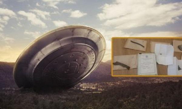 Resti dell'ufo del British Roswell coperti da geroglifici alieni trovati negli archivi del museo