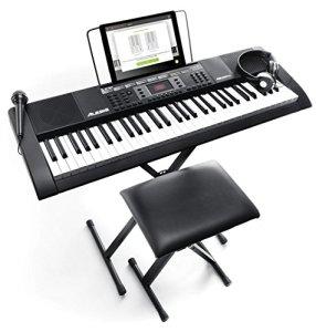 Alesis Melody 61 MKII | Clavier Portable 61 Touches avec Enceintes Intégrées, Casque, Micro, Stand de Piano, Pupitre et Tabouret