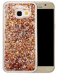 Coque Samsung Galaxy A3 2017 Silicone Nnopbeclik® Paillettes Briller Style Backcover Doux Soft Transparente Housse pour Samsung Galaxy A3 2017 Coque Silicone (4.7 Pouce) Antichoc Protection Antiglisse Anti-Scratch Etui « NOT FOR A3 2016/2015 » – [Or]
