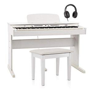 DP-6 Piano Numérique par Gear4music + Pack avec Banc Blanc