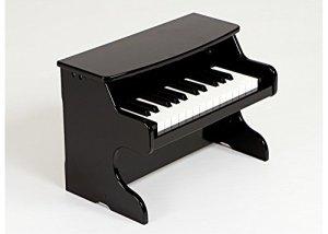 hölzernes Piano Jouet Musical Piano 25Clé Jeu de Simulation pour les enfants infantile précoce Formation Violon, noir