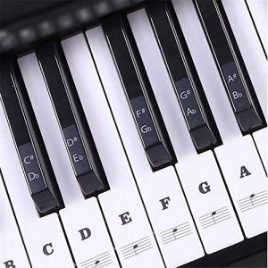 HoneybeeLY Sticker Clavier de Piano, Autocollant Externes pour Clavier de Piano