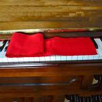 Housse multifonction pour intérieur portable ultra fine en peluche, durable, pliable, résistant à la poussière, clavier de piano lavable doux épais (rouge)