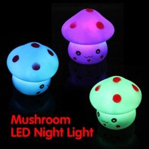 Matefield Veilleuse LED en forme de champignon coloré