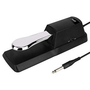 Mugig Pédale de Sustain Universelle pour Piano Clavier, Electronique et Numérique avec Entrée 6.35mm Câble 1,7m