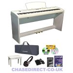 P55 Blanc Portable pour Piano numérique dans L'emballage-Assortis – 3 Pédale de pied