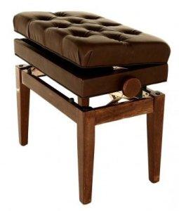 Symphony FS311pw Tabouret de piano ajustable avec coffre de rangement pour partitions Bois de noyer poli