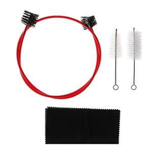 zhongjiany Trumpet Cleaning Care Kit de 4 brosses de nettoyage pour brosse à dents trompette flexible avec chiffon de nettoyage