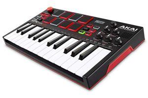 Akai Professional Mpk Mini Play – Clavier Maître MIDI/USB avec Haut-Parleurs Intégrés, Pads MPC, Effets Intégrés, 128 Instruments, 10 Sons De Batterie et Suite De Logiciels Incluse