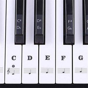 HATCHMATIC 54 61 Irun Trannt 88 Touches de clavier autocollant clé Piano Stave Remarque Autocollant Pour clés