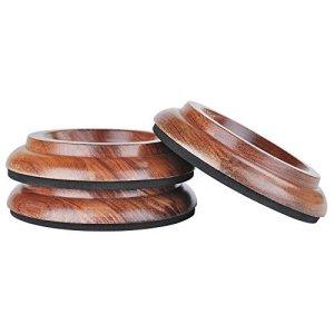 Lot de 3 coupelles en bois massif KingPoint pour roulettes de piano à queue – Disponibles en 6couleurs – Tampons de protection pour pieds de meuble Jacoranda rosewood