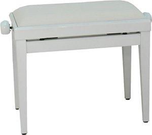 Steinbach 401 Banc de piano avec assise en tissu blanc poli