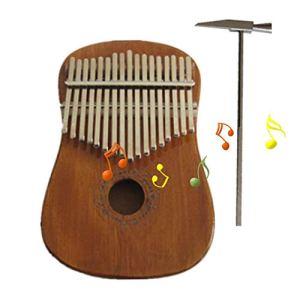 yizhi2325 Kalimba 17 Key Thumb Piano Acajou Carré Rond 17 Ton Finger Piano Instrument Portable De Musique